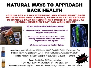 Workshop - Back Health